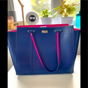 Beautiful large blue tote bag from Kate Spade .